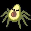 avocado-spider emoji